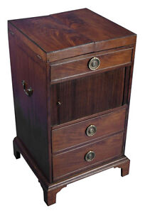 Edwardian Period Antique Mahogany Pot Cupboard Cabinet Train Vanity