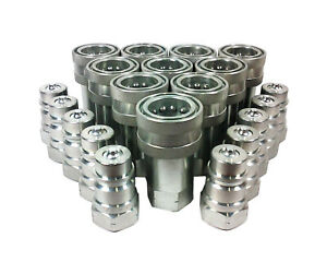 10 Sets 1 Iso 7241 1 A Hydraulic Hose Quick Disconnect Couplers 600 16 16s