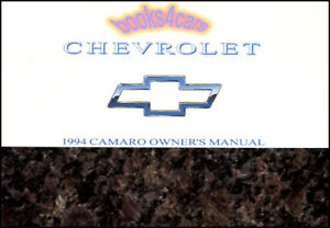 Camaro 1994 Owners Manual Chevrolet Owner s Book Handbook Guide Chevy Ss Z 28 94