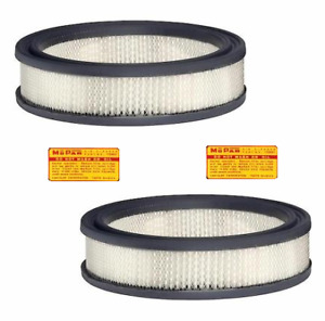 Dual Quad Air Filters For 1960 61 Mopar B body C body With Ram Induction