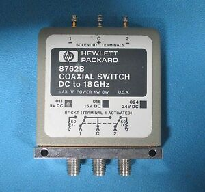 Hp Agilent 8762b Coaxial Switch Dc To 18 Ghz Spdt Option 024