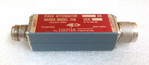 Narda 756 Dc To 1500 Mhz 10 Db Type N m f Fixed Attenuator