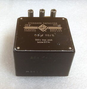 General Radio gr 1409 x 0 5 Uf Standard Capacitor