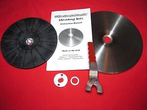 9 easy Shrink Shrinking Disc Kit Wrench English Wheel Grinder Shrinker