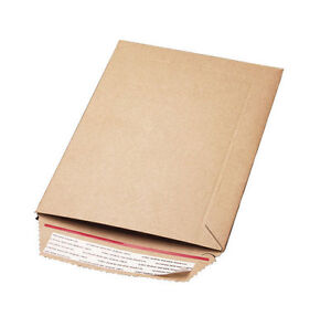 7 5x7 5 Rigid Flat Photo Mailers 250 cs cd Self seal Kraft