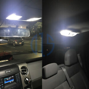 12 X White Led Interior Package License Plate Lights For 1997 2014 Ford F150