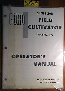 Ford New Holland Series 208 Field Cultivator 3 Bar Pull Type Operator Manual 66