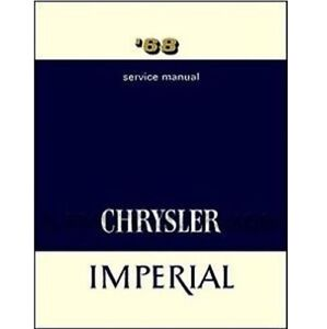 Factory Shop Service Manual For 1968 Chrysler Imperial