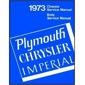 Factory Shop Service Manual For 1973 Plymouth Imperial Chrysler