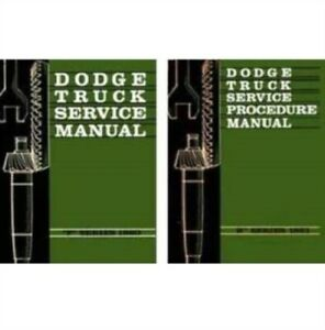 Factory Shop Service Manual Set For 1960 1961 Dodge Trucks