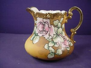 Antique Victorian Hand Painted Pitcher