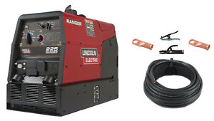 Lincoln Ranger 225 Engine Welder Generator K2857 1 With Cable Package