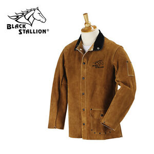 Revco Black Stallion Split Cowhide 30 Leather Welding Jacket Size Small