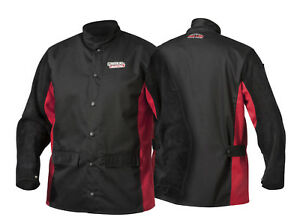 Lincoln K2986 Shadow Split Leather Sleeved Welders Welding Jacket Size Medium