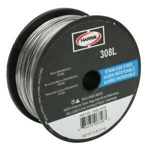 Harris 308l Stainless Steel Solid Mig Wire 025 2 Lb Spool