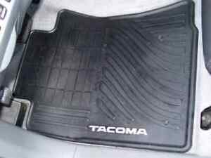 2005 2011 Tacoma Front All Weather Rubber Floor Mats Genuine Toyota Accessory