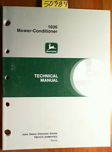 John Deere 1600 Mower conditioner Technical Manual Tm1474 5 93