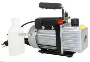 Single Stage 3 Cfm 1 3hp Rotary Vane Vacuum Pump Hvac Air Ac A c R410a R134a