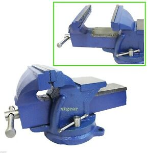 5 Bench Vise With Anvil Swivel Locking Base Table Top Clamp Heavy Duty Steel