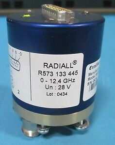 Radiall R573133445 Coaxial Switch12 4ghz 28v