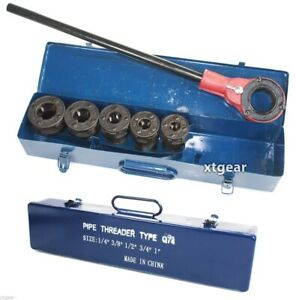 Huge 5 Pc Ratchet Pipe Threader Set 5 Pc Dies 1 4 3 8 1 2 3 4 1 Large