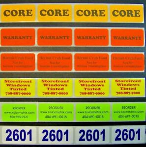 500 Printed Labels Custom 3 4 X 1 1 4 Rectangle Business Stickers 1 color