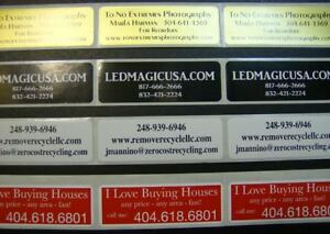 Custom Printed Labels 500 Rectangle Business 3 4 X 1 3 4 Stickers 1 Ink Color
