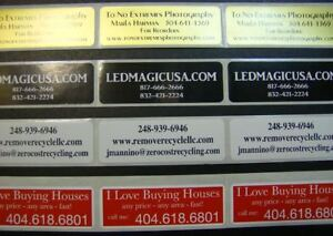 Printed Labels 500 Custom Rectangle 3 4 X 2 Business Stickers 1 Color Seals