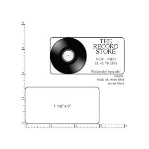 500 Printed Labels Rectangle 1 1 2 X 3 Custom Business Stickers 1 color Ink