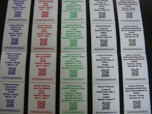 Custom Printed Labels 500 Rectangle 2 5 X 4 Business Stickers 1 color Ink