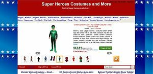Superheroes Costumes Amazon Affiliate Webstore Wordpress Unique Website For Sale