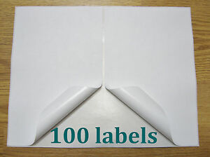 100 Shipping Labels Self Adhesive Printer Paper Paypal Ebay Postage 8 5 X 5 5