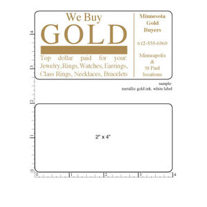 2 000 Custom Labels 2 X 4 Printed Rectangle Business Stickers 1 color Rolls