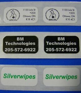 5 000 Printed Labels Custom Small Rectangle 5 X 1 Business Stickers 1 color