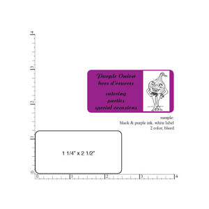 Custom Printed Labels 5000 Rectangle Business Stickers 1 color 1 25 X 2 5