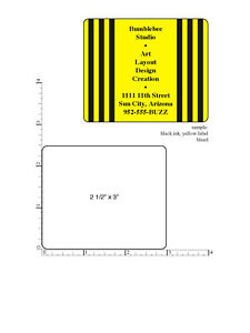 Custom Printed Stickers 5 000 Rectangle Business Labels 1 ink Color 2 5 X 3