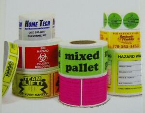 Printed Labels 1 color Rectangle 10 000 Custom Business Stickers 1 25 X 2 5