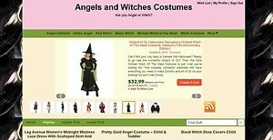 Angels And Witch Costumes Halloween Amazon Affiliate Wordpress Website For Sale