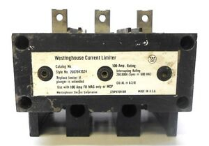 Westinghouse Current Limiter Style 2607d43g24 100a Amp Rating