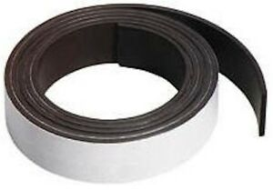 100 Magnetic Strip Magnetic Tape Rolls 60mil X 3 X 100 W Adhesive Back