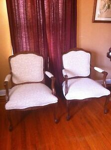 Pair Of French Provincial Wingback Arm Chairs