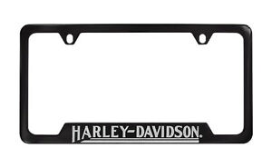 Harley Davidson Black License Plate Frame Holder 4 Hole