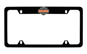Harley Davidson Flat Matte Black License Plate Frame Holder Color 3d Bar Shield