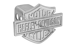 Harley Davidson Trailer Hitch Cover Plug With 3d Monotone Bar Shield