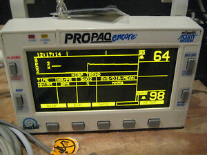 Propaq Encore 202 El Multi parameter Patient Monitor Great Shape Guaranteed