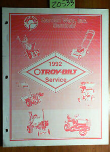 Troy bilt Mower Rotary Tiller Chipper Snowthrower Tractor Service Manual 92