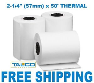 2 1 4 X 50 Thermal Credit Card Receipt Paper 144 Rolls free Shipping