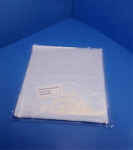 100 1000 13x14 Clear Poly Bags 1 mil Lay flat Open Top End Plastic Baggies 1ml