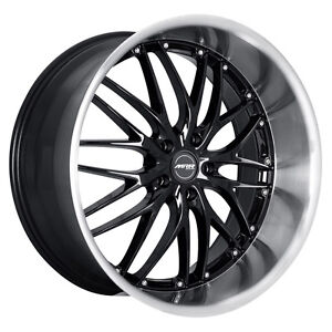 20 staggered Mrr Gt 1 Black Set Of 4 Rims g35 37 m35 47 Lexus Rx Seriees