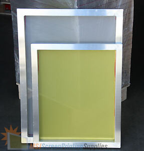 6 Pack 18 x20 Aluminum Frame Printing Screens 110 160 230 Mesh Count Mix Lot
